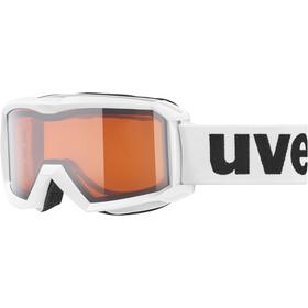 UVEX flizz LG laskettelulasit Lapset, white/lasergold